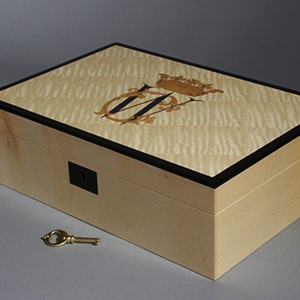 Luxury Jewellery Box with Royal Monogram - HRH William and Catherine