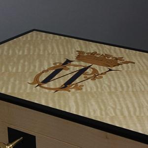 Luxury Jewellery Box - Close-up of Royal Monogram
