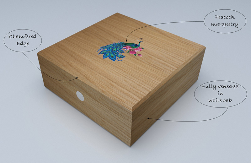 Luxury Jewellery Box in Oak